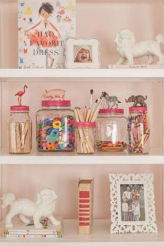 DIY Organized Shelves