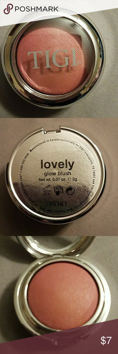 "Brand New TIGI Glow Blush ""lovely"" Never touched, new TIGI glow blush.  Shade is ""lovely"".  2g/0.07 oz. TIGI Makeup Blush"