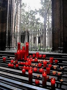 Swath of Red Candles