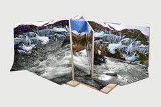 "Jason Gowans (Canada), Five Landscape Modes -""These images were created from physical objects. I built maquettes using found negatives, my own photographs, and images from the Internet. I photographed them to create several angles, exposures, shadows"""