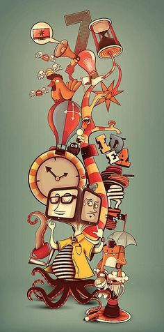 Stylish Illustrations by Renan Penante, an illustrator from Brazil. Fun & colorful!