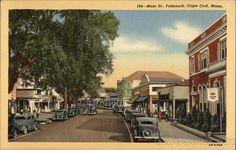 Main Street View on Cape Cod Falmouth Massachusetts