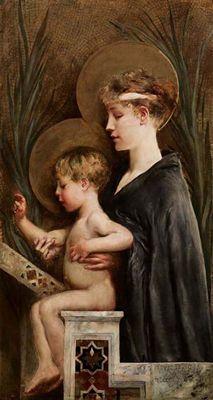 Giulio Aristide Sartorio: Madonna con el Niño, 1860