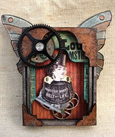 Steampunk Mini Collage Shrine