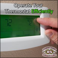 Set your thermostat as high as comfortably possible in the spring and summer. The smaller the difference between outdoor and indoor temperatures, the lower your cooling bill will be.  Now we know that you don't want it to be 85 degrees inside, but you could get by with it being 72-74 degrees and be comfortable rather than having to have your home below the 70 degree mark.   Use fans to circulate the cooler air and make sure doors and windows are properly sealed as well. #RonaldSmithHVAC