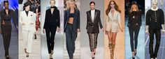 7. 1960's inspired fashion. Feminized by Yves Saint Laurent in the 1960's, the tuxedo is one of the  most dominating items in the spring 2013 collections inspired by grace jones