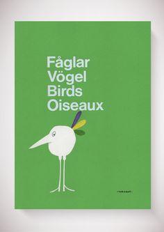 Olle Eksell - WELCOME TO THE OFFICIAL WEBSHOP OF THE LEGENDARY SWEDISH DESIGNER OLLE EKSELL (1918-2007) - Fåglar, Vögel, Birds, Oiseaux - the bird collection