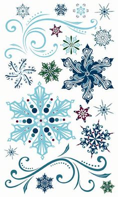 Bo Bunny Press - Midnight Frost Collection - Nice Snowflake ART!