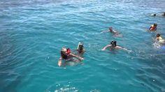 Египет, Хургада, Девушка, неумеющая плавать в открытом море,