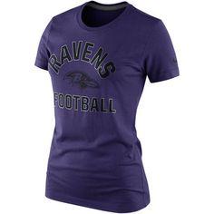 Nike Baltimore Ravens Women's Hometown Tri-Blend T-Shirt - Purple