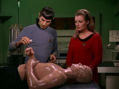 Diana Muldaur, in Star Trek: The Original Series (1968) She played Dr. Pulaski in season 2 of TNG.