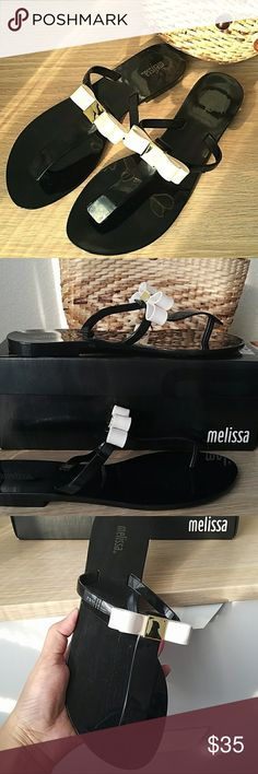 Authentic Melissa sandals. New in box Cute bow sandals. NIB. 100% pvc. Melissa Shoes Sandals