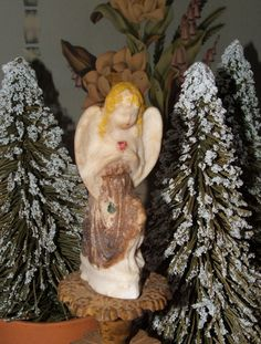 Antique Stone Angel by lookonmytreasures on Etsy, $33.00