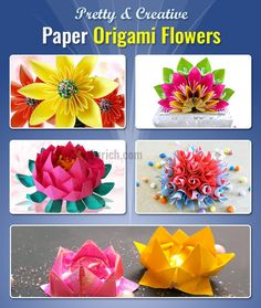 If you are worrying about finding Origami flowers for beginners, then just take a look on & learn the 5 creative ways of making Easy Origami Flowers...