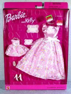 1999 Fashion Avenue Matchin' Styles Barbie and Kelly at the Ball NIB, Mattel 1980s Barbie, Barbie Dolls Diy, Barbie Sets, Doll Clothes Barbie, Vintage Barbie, Mattel Barbie, Dolls Dolls, Girl Dolls, 1999 Fashion