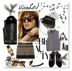 """""""Warm Winter's Day"""" by sue-mes ❤ liked on Polyvore featuring Dansk, Rebecca Minkoff, H&M, Givenchy, Ray-Ban and NYX"""