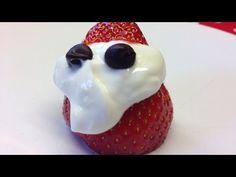 !!ONE SYN DESSERT!! Strawberry Santas - Slimming World - YouTube My Slimming World, Slimming World Recipes, Strawberry Santas, Dessert, Youtube, Dessert Food, Deserts, Desserts, Youtubers