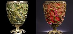Researchers have finally found out why the jade-green cup appears red when lit from behind This 1,600-Year-Old Goblet Shows that the Romans Were Nanotechnology Pioneers,