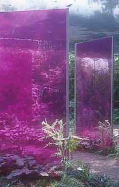 boundary of perspex, perspex, pink, colors location: Chaumont Sur Loir, design: Céline Portaz & Julien Manigand Maayke de Ridder Photography.