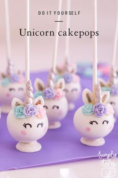 Unicorn cake pop kit with roses and horns Kits Birthday