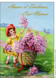 Carte Amour et tendresse c'est maman pour envoyer par La Poste, sur Merci-Facteur !