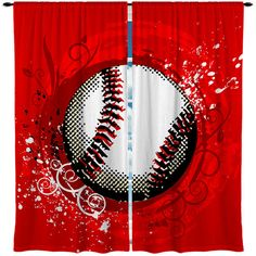 Hey, I found this really awesome Etsy listing at https://www.etsy.com/listing/183243274/custom-window-curtain-baseball-theme