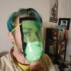 DIY Gas Mask: And from the winners of the occupy movement - the homemade gas mask. Interesting. OF course their main concern was tear gas - but this does have #prepping applications. #survival #preppers