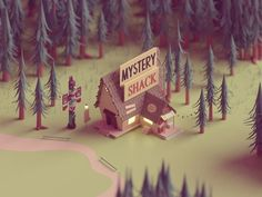 "238 Likes, 25 Comments - MChahin (@mohchahin) on Instagram: ""Gravity falls  Love that show,  check my behance for the full project  #dribbble #design…"""
