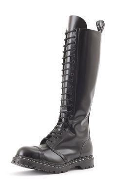 Gripfast 20 Eyelet Steel Toe Boot in Black