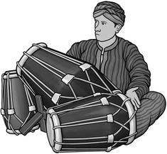 [ kendang ] drum / grayscale images