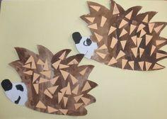 Ősz :: Óvoda Some Fun, Art Education, Hedgehog, Creations, Table Lamp, Paper, How To Make, Crafts, Home Decor