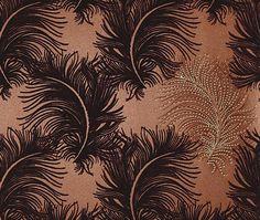 Karen Beauchamp's wallpaper designs for Swarovski Elements. Loving this flocked and crystallized bronze shade.