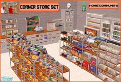 Corner Store Set for The Sims 2 (TS2)