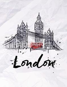 Clipart vectoriel : Poster London