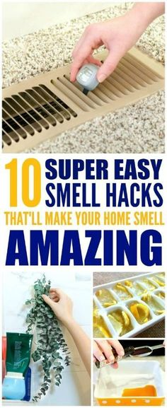 These easy ways to make your home smell good and fresh are pretty great! I'm glad I found these home hacks! These DIY ideas are really great for my home! #homehacks #DIYideas #DIY #DIYprojects #smellhacks #smelltips