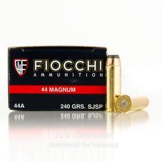 Fiocchi 44 Magnum Ammo - 500 Rounds of 240 Grain JSP Ammunition #44Magnum #44MagAmmo #Fiocchi #FiocchiAmmo #Fiocchi44Mag #JSP