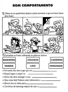 Bom comportamento Education, Respect Activities, Bible Activities For Kids, Kids Learning Activities, Literacy Activities, Paulo Freire, Social Science, Emotional Intelligence, Index Cards
