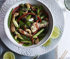 Chicken, asparagus & cashew stir-fry