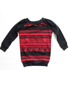 Red Pyramid Raglan Sweatshirt / twolittlekings