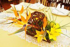Centro de mesa de la boda de Itzel & René  http://www.meximeetings.com.mx/