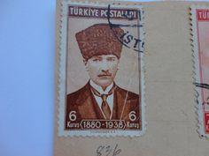6 1880-1938 Old Turkiye Historical Postage Stamp