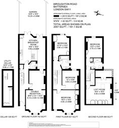 5 bedroom terraced house for sale in Wroughton Road, Battersea, London - Rightmove. Kitchen Extension Side Return, House Extension Plans, Side Extension, Extension Ideas, House Plans Uk, House Floor Plans, Victorian Terrace, Victorian Kitchen, Dormer Loft Conversion
