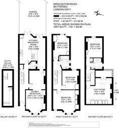 5 bedroom terraced house for sale in Wroughton Road, Battersea, London, SW11