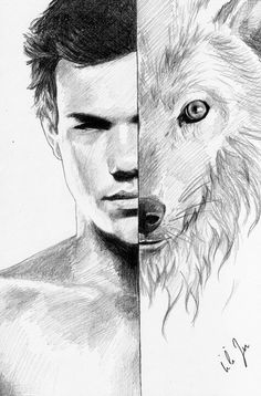 Pencil Drawing Of Jacob Black From The Twilight Series