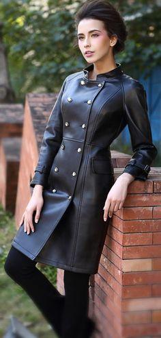 Dress Pants, Dress Skirt, Cute Coats, Coats For Women, Leather Boots, Buttons, Female, Elegant, Skirts