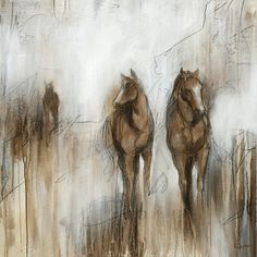 Ballard Designs Grazing Stretched Canvas ($349) ❤ liked on Polyvore featuring home, home decor, wall art, backgrounds, art, paintings, giclee painting, horse wall art, textured wall art and texture painting