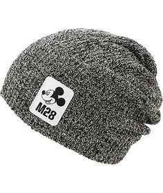Update your kit with an iconic look in this slouchy beanie made with a stretchy knit construction finished with a Neff logo tag and Mickey Mouse patch at the front.