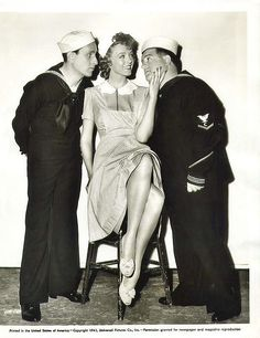 A very young Abbott and Costello