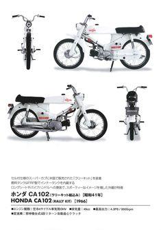 スーパーカブ CA102(ラリーキット組込み)