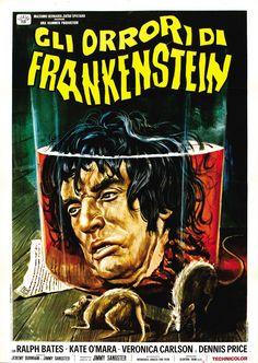 """Italian Movie Poster for """"The Horror of Frankenstein"""" (1970)"""